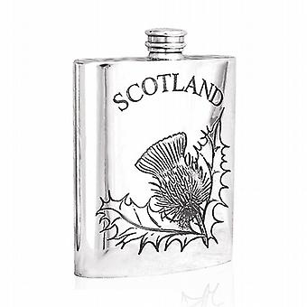 6oz Thistle Flask Pewter - Sf243