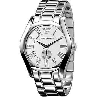 Emporio Armani Ar0647 Mens Stainless Steel Silver Dial Designer Watch