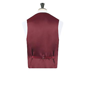Dobell Boys Burgundy Paisley Waistcoat Regular Fit Wedding