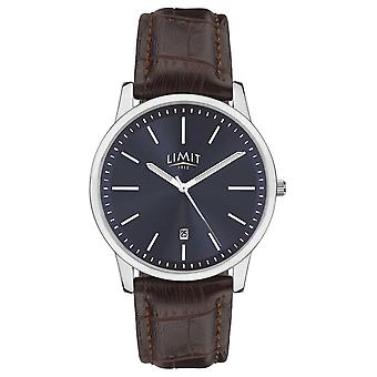 Limit | Mens Brown Leather Strap | Blue Dial | Silver Case | 5745.01 Watch