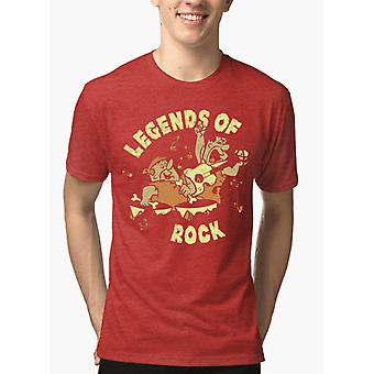 Legends of rock half sleeves melange t-shirt