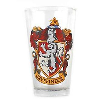 Harry Potter Glass Gryffindor House Crest Logo new Official Large Boxed