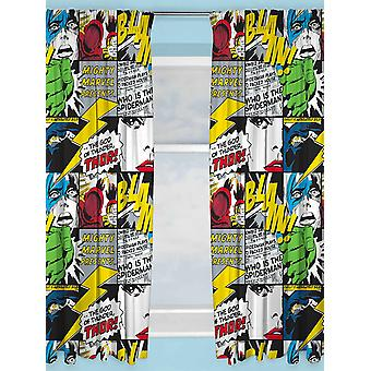 Marvel Avengers Scribble rideaux 168cm x 183cm