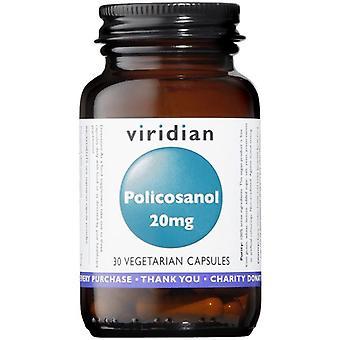 Viridian Policosanol 20mg Veg Caps 30 (378)