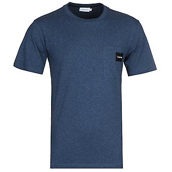 Calvin Klein Navy Marl Heather Pocket T-Shirt
