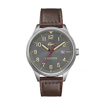 Lacoste Watch 2011020 - Round steel case Grey strap