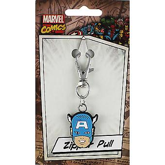 Marvel Zipper Pull-Captain America ZPL-MVL-0011