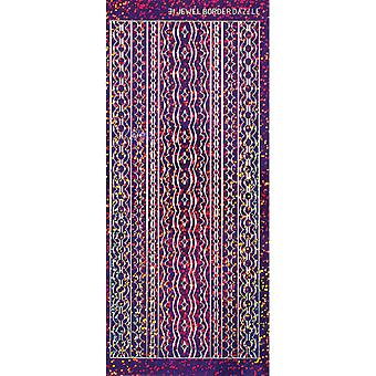 Dazzles Stickers 31 Purple Jewel Border Daz 2444