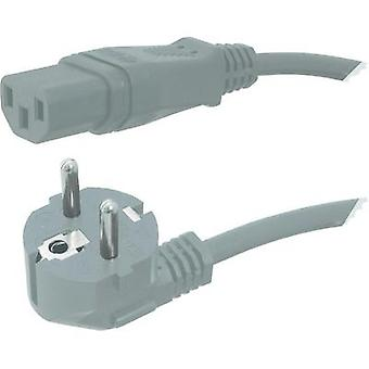 C13/C14 appliances Cable [ PG plug - IEC C13 socket ] Grey 2.50
