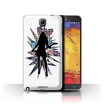 STUFF4 Case/Cover voor de Samsung Galaxy Note 3 Neo/Rock Chick wit/Rock sterren Pose