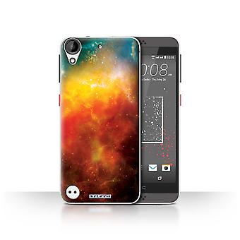 STUFF4 Case/Cover for HTC Desire 530/Orange Nebula/Space/Cosmos
