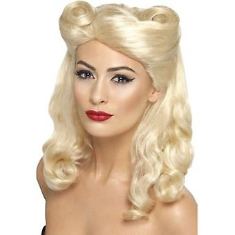 Smiffys 40'S Pin Up Wig Blonde With Victory Rolls (Kostüme)