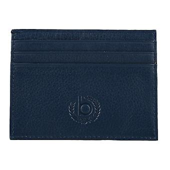 Bugatti mens credit card holder card holder leather case Blue 4131