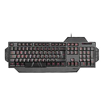 SPEEDLINK Rapax Stealth kompakt rød LED belysning Gaming Tastatur - svart