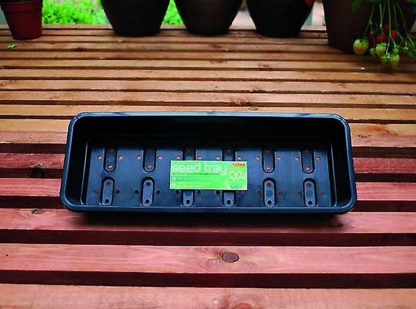 Narrow Seed Tray Black With Holes Planting Gardening