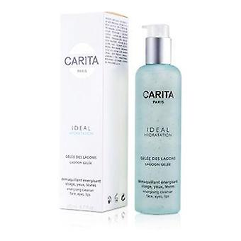 Carita Ideal Hydratation Lagoon Gelee Energising Cleanser For Face Eyes and Lip - 200ml/6.7oz
