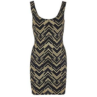 Zig Zag Sleeveless Bodycon Dress DR465-12