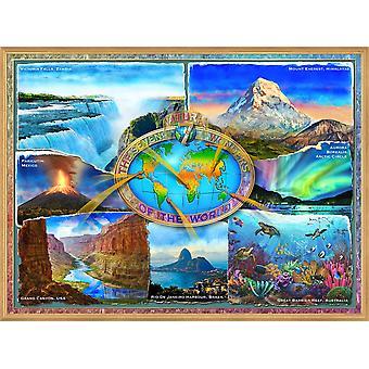 7 naturlige vidundere i verden plakat Print af Adrian Chesterman