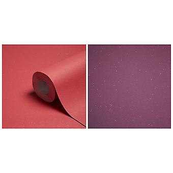Glitter Wallpaper Sparkle Expanded Vinyl Paste The Wall Red Purple