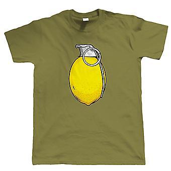 Lemonade Grenade, Mens Urban Art T Shirt