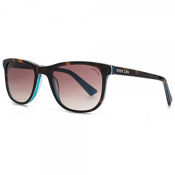 Hook LDN Rhapsody Sunglasses In Tortoiseshell On Turquoise