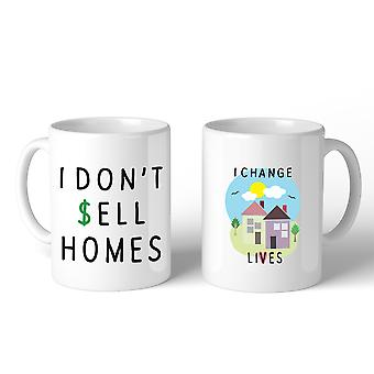 I Don't Sell Homes I Change Lives Coffee Mug For Real Estate Gifts