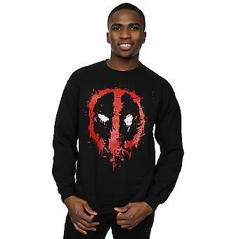 Marvel mannen Deadpool Splat gezicht Sweatshirt