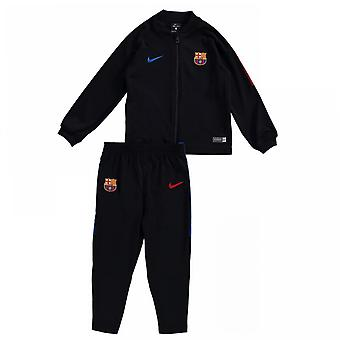2017-2018 Barcelona Nike Infants Tracksuit (Black) - Baby