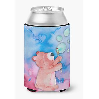 Carolines Treasures  BB7347CC Bear and Bubbles Watercolor Can or Bottle Hugger
