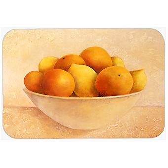 Oranges & Lemons in a Bowl Glass Cutting Board Large