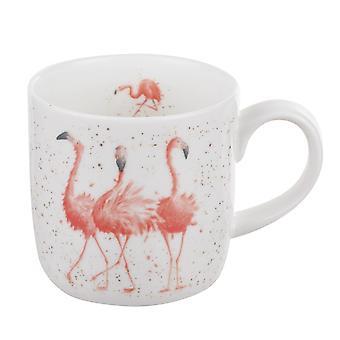 Royal Worcester Wrendale Pink Ladies Flamingo Single Mug