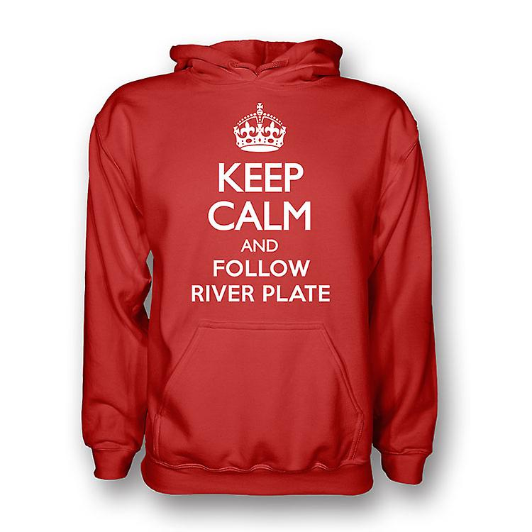 Keep Calm And Follow River Plate Hoody (red)