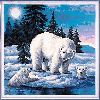 Collection D'Art Stamped Cross Stitch Kit 41X41cm-Cute Family CDPA1033