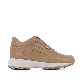 Hogan women's HXW00N00E30FFDC203 brown leather of sneakers