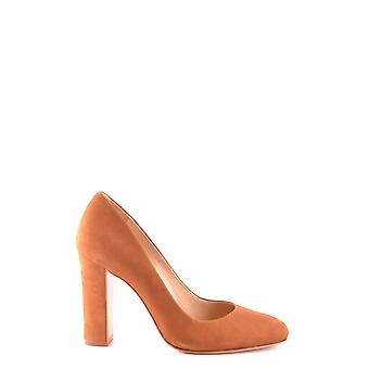 Protection women's MCBI364005O brown suede leather pumps