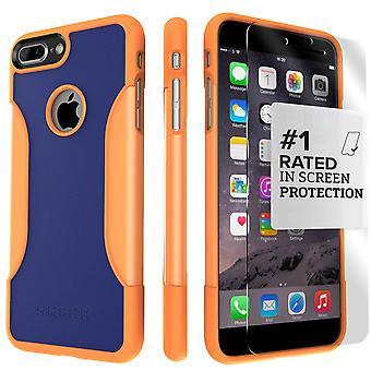 SaharaCase iPhone 8 Plus & 7 más ardiente sol caso, clásico paquete de Kit de protección con vidrio templado de ZeroDamage