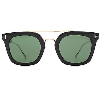 Tom Ford Alex-02 Sunglasses In Black Green