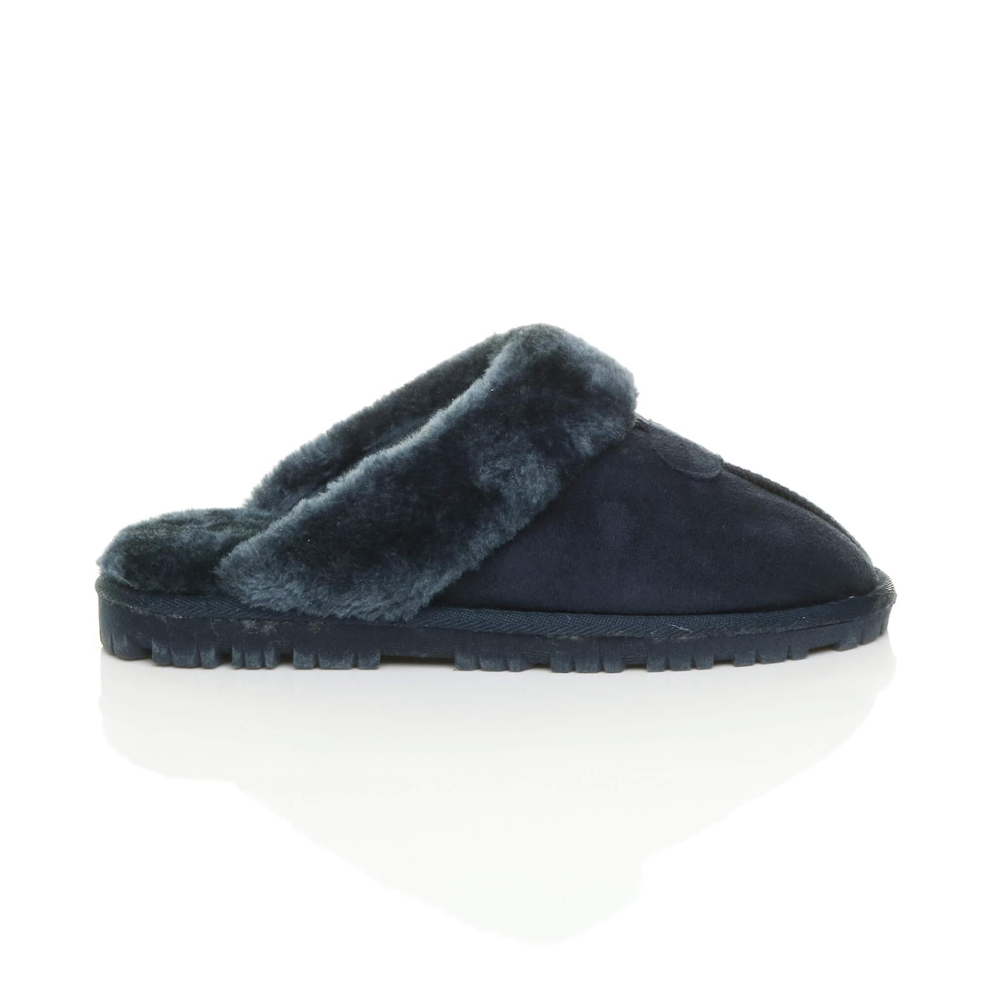 shoes flat faux winter slippers luxury mules slip sheepskin womens on fur Ajvani lined 75wS6aaq