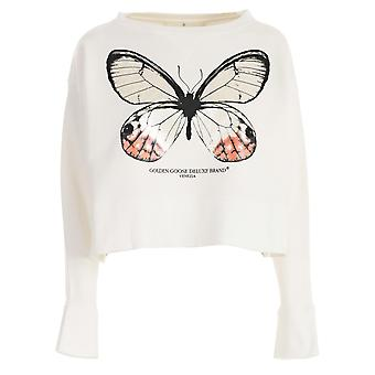 Golden Goose women's G32WP126A3 white cotton Sweatshirt
