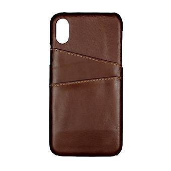 GEAR casing Onsala Leather Brown with Slot iPhoneX