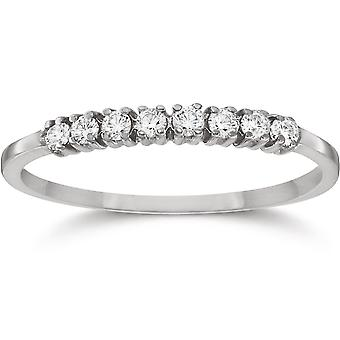 1/5ct Diamond Wedding Ring 14K White Gold