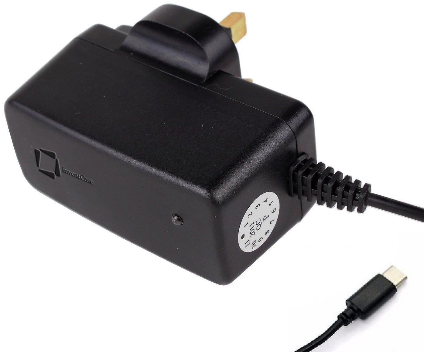 InventCase 1,5 m USB Typ C Portable Reisen 3 Pin AC Wand Ladegerät Power Adapter Netzstecker für Huawei P20 / P20 Pro / P20 lite