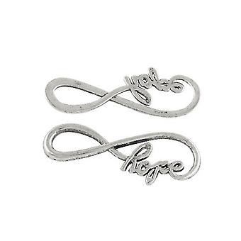 Packet 5 x Antique Silver Tibetan Infinity Connectors 15 x 39mm Y00740