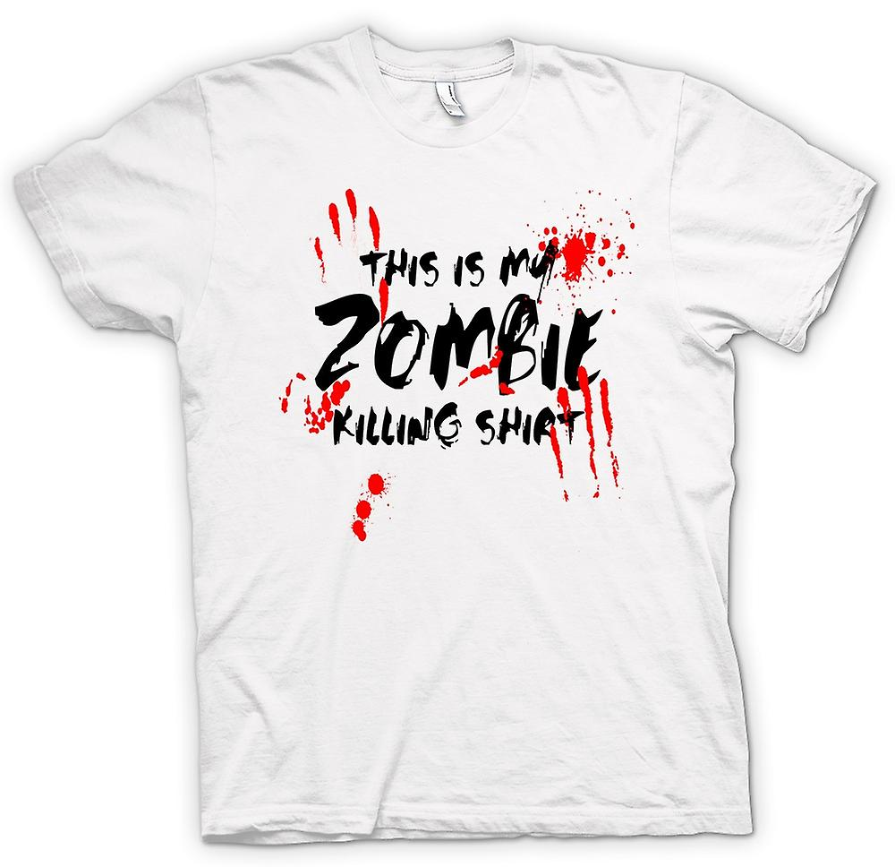 T-shirt des hommes - This Is My Zombie massacre - Drôle
