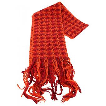 Bassin and Brown Chestnut Textured Scarf  - Orange/Red