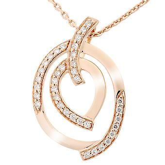 Orphelia Silver 925 Chain With Pendant Rosegold Plated Zirconium (Zk-2700/Rg)  ZH-7114/RG