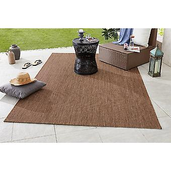 Design- og Outdoorteppich flad stof matche Brown