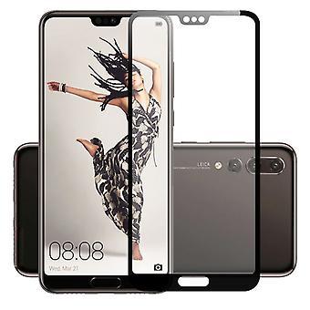 4D Premium 0,3 mm H9 Hart Glas Schwarz Folie für Huawei P20 Lite Schutz Hülle Neu