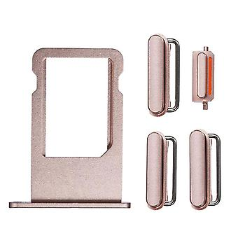 Rose Side Buttons Set with SIM Tray For iPhone 6S Plus