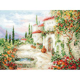 At The Fountain Counted Cross Stitch Kit-15.75
